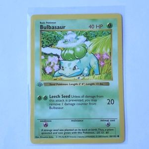 1st Edition Shadowless NM Bulbasaur 44/102